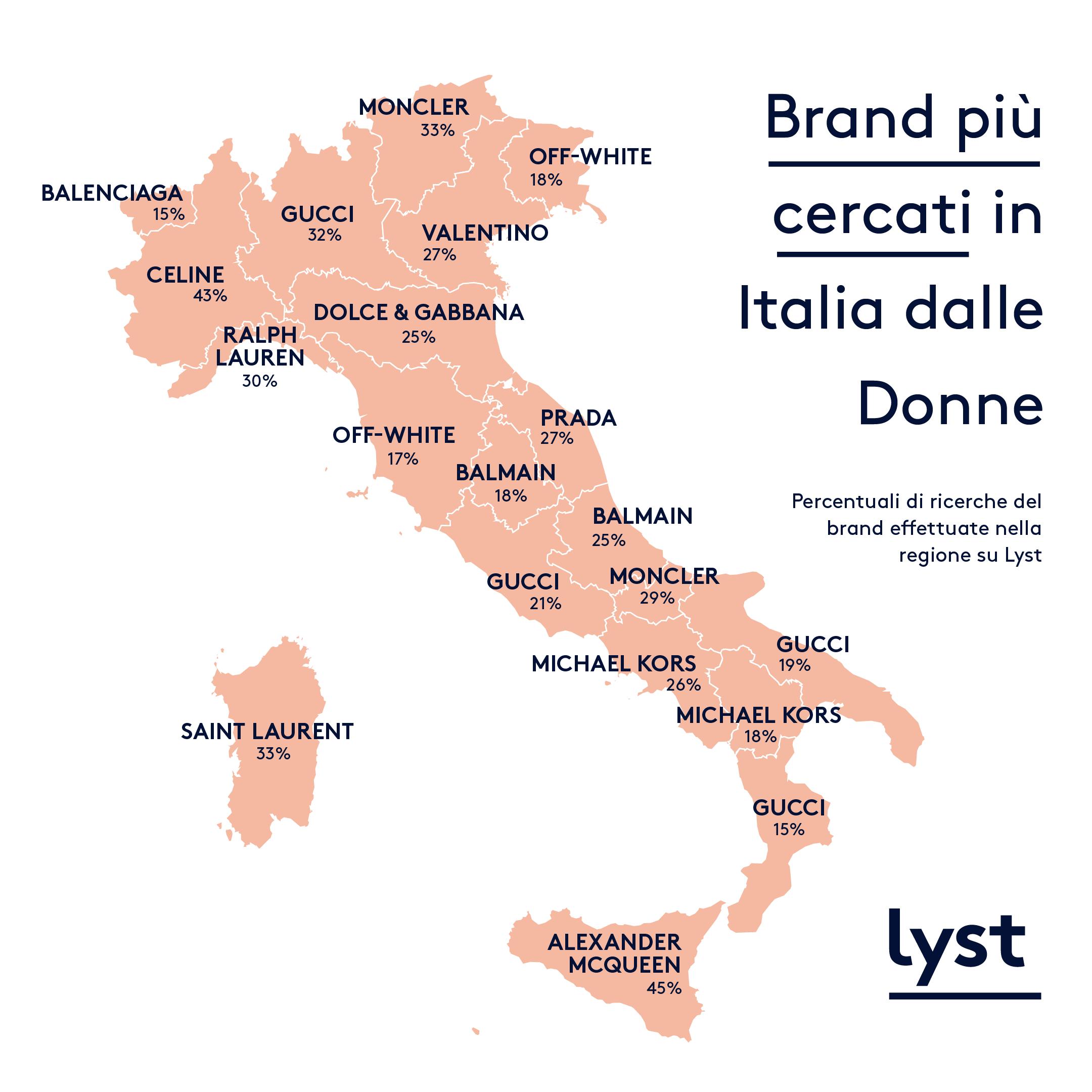 Milano Cartina Italia.Lyst Presenta La Mappa Del Fashion In Italia Gazzetta Di Milano