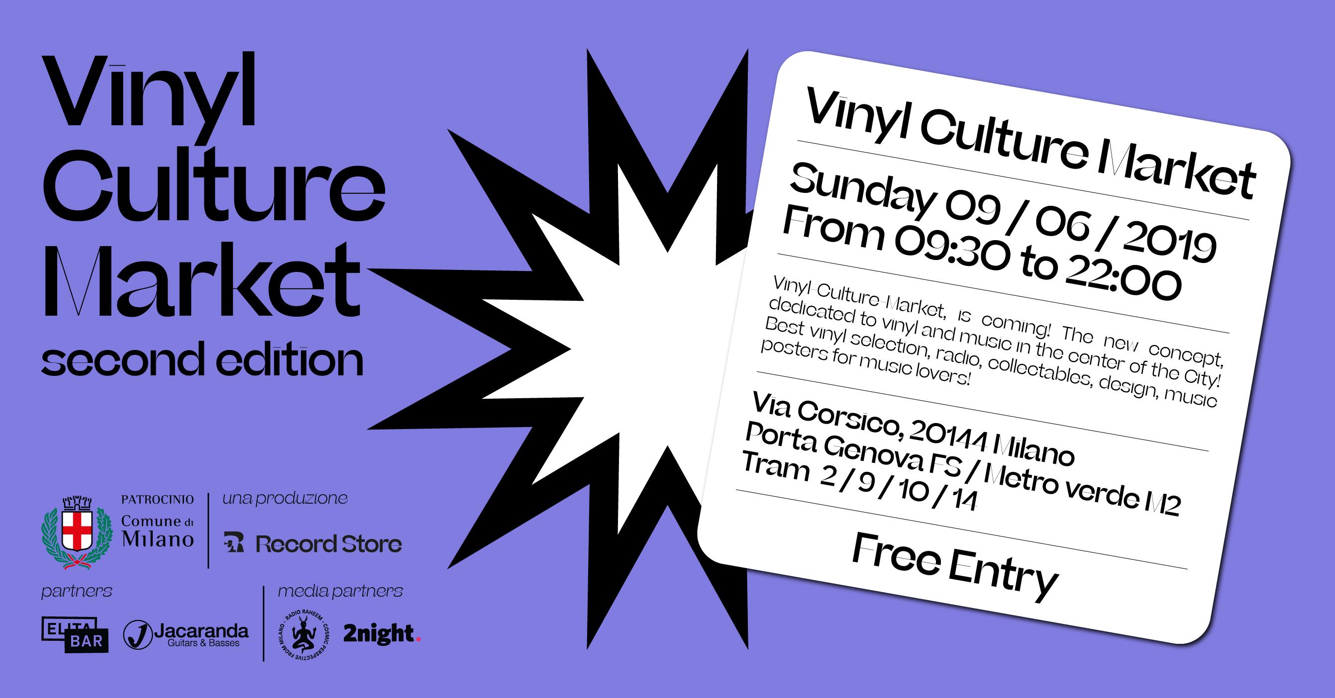 Vinyl Culture Market, mostra mercato dedicata al disco in