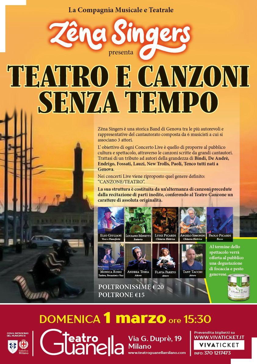 Zena Singers il 1 Marzo a Milano