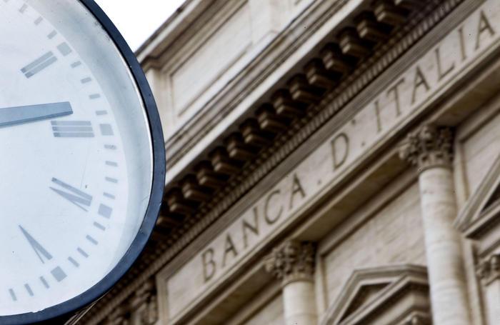 L'ingresso della Banca d'Italia aPalazzo Koch in Via Nazionale oggi 20 ottobre 2011 a Roma. ANSA  MASSIMO PERCOSSI