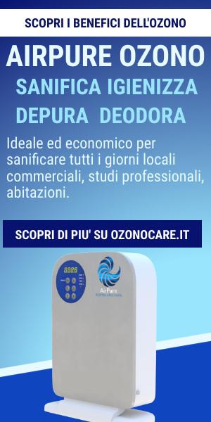AirPure sanifica con l'ozono locali commerciali, negozi, studi professionali, abitazioni