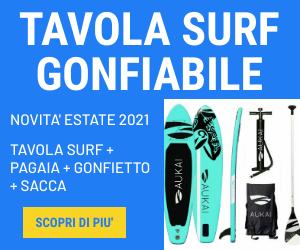 tavola surf gonfiabile 320cm adatta a tutti per fare sport al mare o al lago in offerta su Funshopping.it